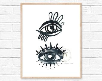 Evil Eye Art Print