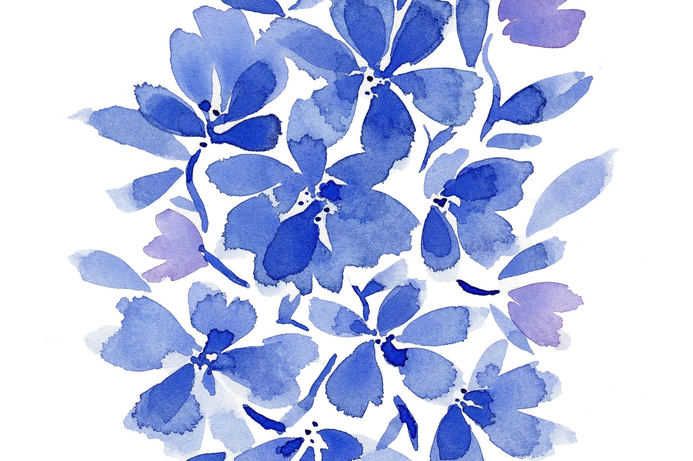 flower art print flower print abstract flowers watercolor flowers