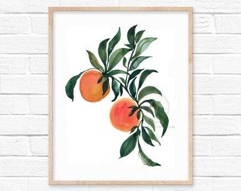 Oranges Watercolor Watercolor Print