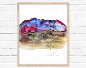 Mountain Watercolor Print