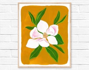 Magnolia Watercolor Print