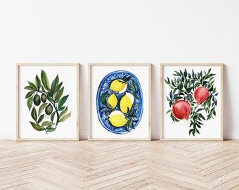 Large Food Watercolor Prints