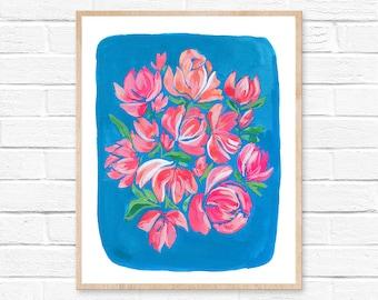 Flower Watercolor Print Floral Art, Unframed