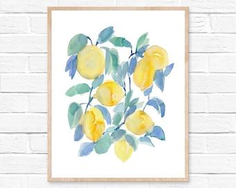 Lemons Watercolor Print