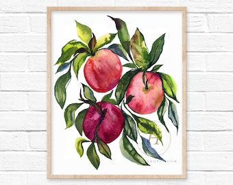 Apples Watercolor Art Print