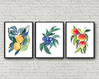 Large Fruit Print Set 3
