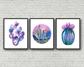 Cactus print Set of 3