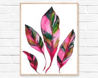 Botanical Print - Wall Art - Leaf Print - Botanical Art - Leaf Art - Room Décor - Bedroom Décor - Home Décor - Home Office