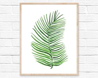 Watercolor Palm Print