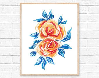 Flowers Modern Farmhouse Flowers Art Print Farmhouse Decor Home Decor Wall Art Rustic Home Decor Wall Decor Rustic Print Farmhouse Bohemian
