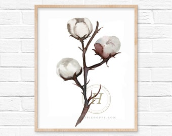Cotton Art Print by HippieHoppy