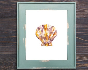 Shell Watercolor Print