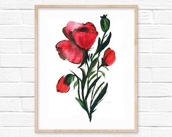 Poppy Art Print by hippiehoppy