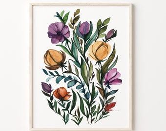 Flower Art Print Watercolor Painting