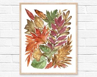 Leaf Watercolor Print