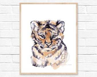 Nursery Safari Print