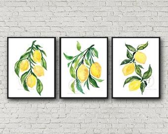 Lemon prints, Set of 3