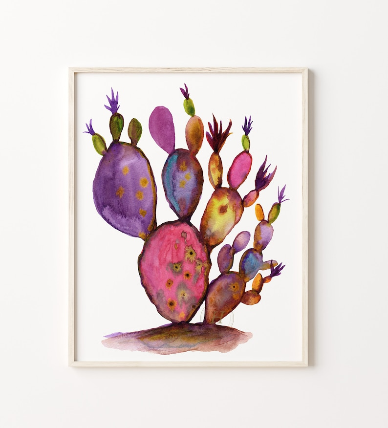 Large Cactus Print: Botanical Wall Art image 0