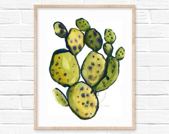 Cactus Art Print by HippieHoppy