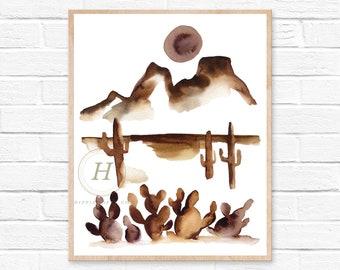Abstract Desert Print