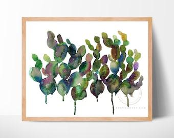 Cactus Watercolor Art Print by HippieHoppy