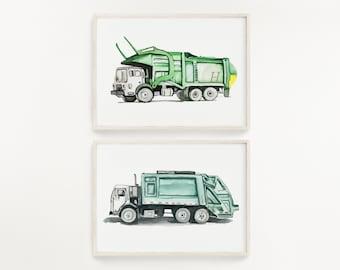 Trash Truck Set of 2
