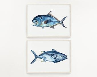Permit and Tuna Print Set of 2