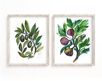 Fruit Watercolor Prints by hippiehoppy
