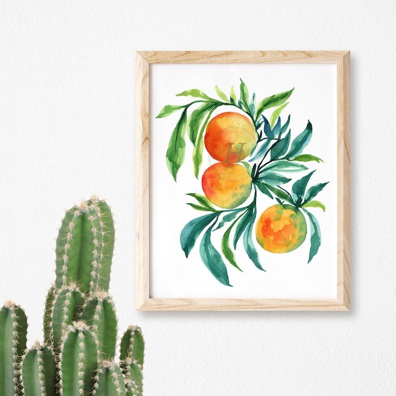 Blueberry Orange prints Set of 3
