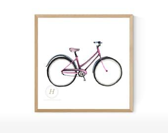 Bike Watercolor Print