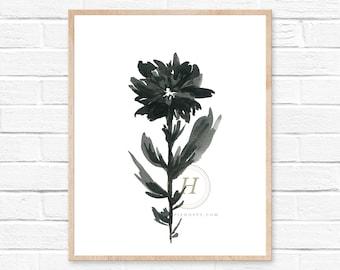 Flower minimalist art print