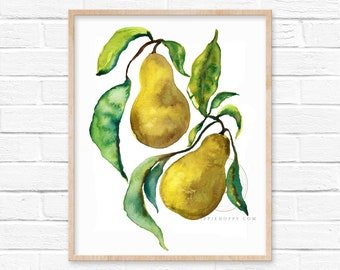 Large Kitchen Wall Art Pears Fruit