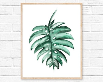 monstera deliciosa art prints monstera leaf monstera leaf plant monstera leaves tropical leafs home decor tropical plant palm leaves print