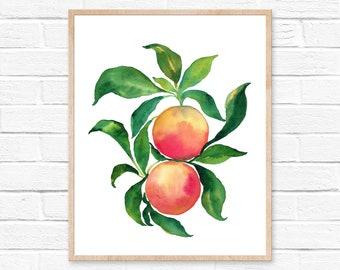 Large Grapefruit Watercolor Print