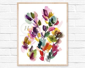 Floral print, Watercolor flowers, Wild flowers, Art