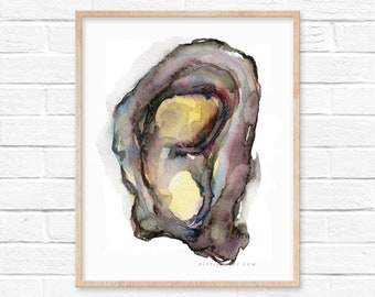 Oyster Watercolor Print