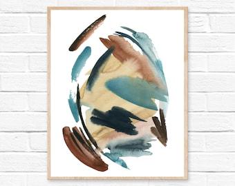 Watercolor Abstract, Modern Art, Abstract Art, Print