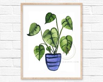 Plant Watercolor Print Wall Art