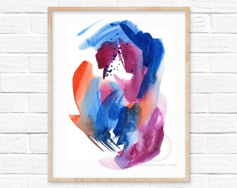 Abstract Watercolor Print