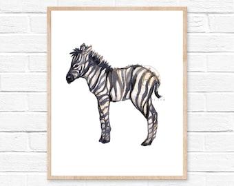 Safari Nursery Watercolor Print