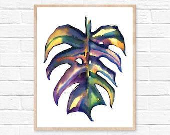 Monstera Watercolor Print