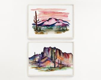 Desert Art Prints Set of 2