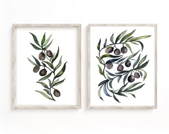 Olive Branch Set of 2 Prints