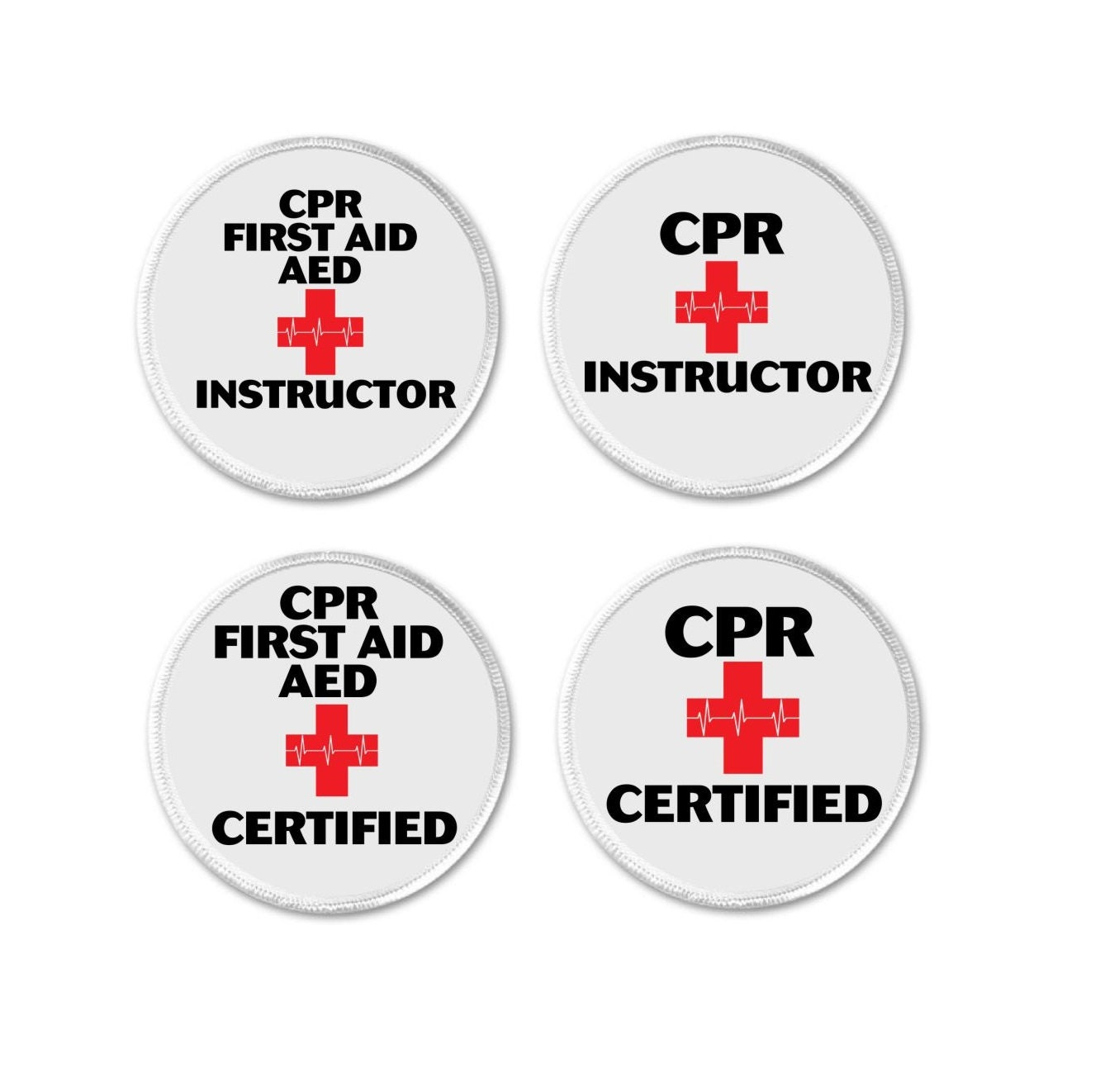 Cpr First Aid Aed Instructor Certified Medical Alert Symbol Etsy