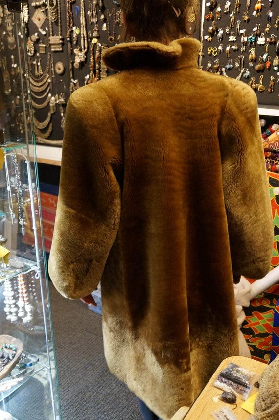 Mouton coat, 1940's, great shape, puff sleeve, sp… - image 2