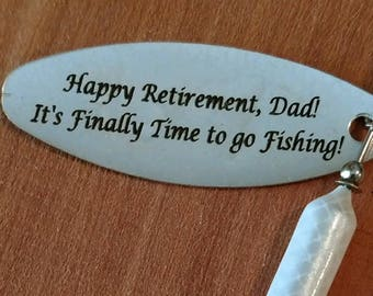 Retirement Gifts for Men Personalized Wordens Fishing Lure 1/2 Ounce Rooster Tail
