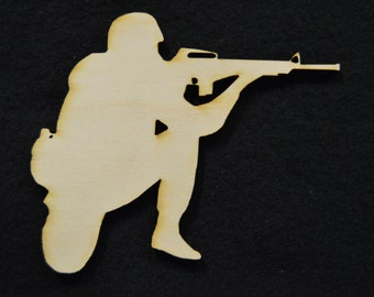 Soldier Sign Wooden Cutouts - Shapes for Projects or Other Use