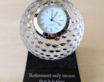 Golf Gifts For Men or For Women Dad Groom Him Her Golf Balls Decor the Golfer Gift Decor In Golfing Crystal Clock