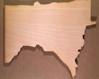 MN Minnesota Wood Cutouts - Shapes for Projects or Other Use