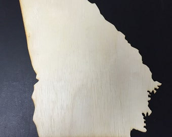 GA Georgia Wood Cutouts - Shapes for Projects or Other Use